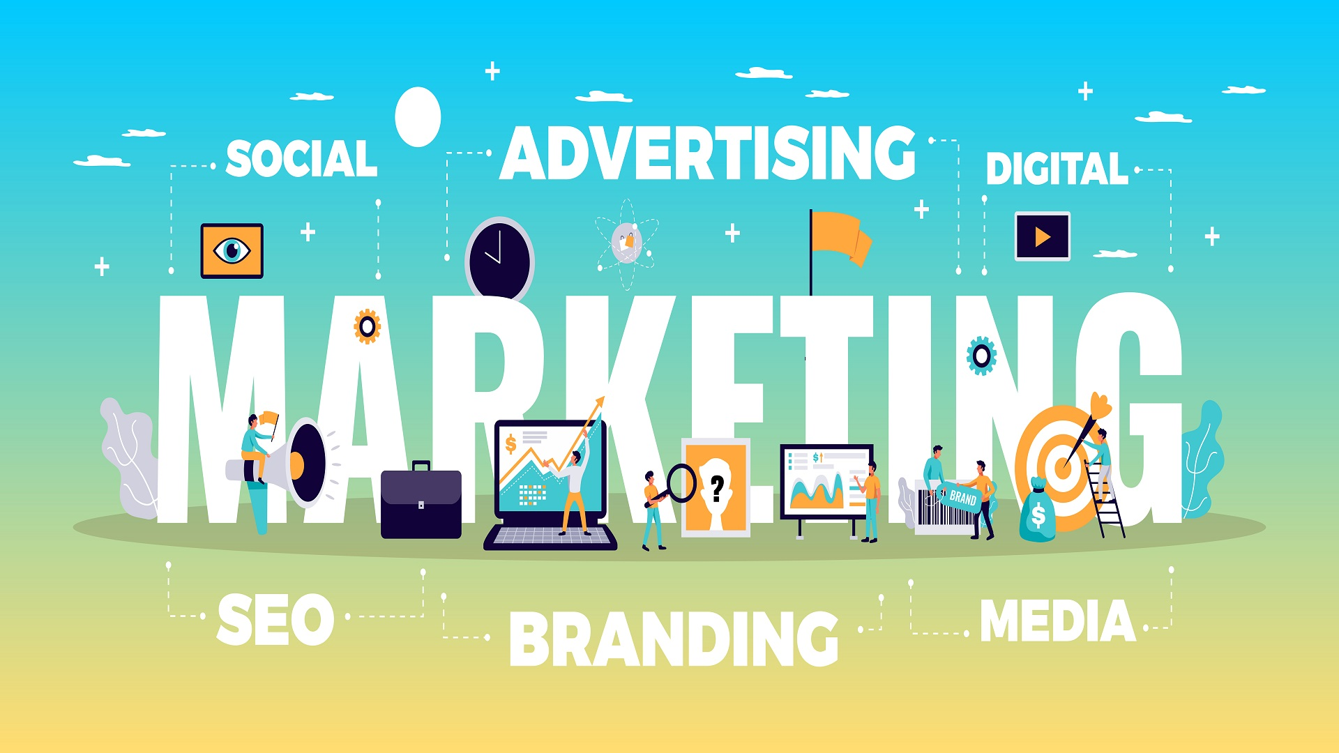 image to illustrate the concept of social media marketing